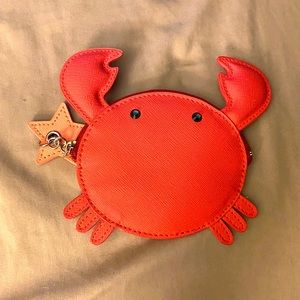 kate spade red crab coin purse